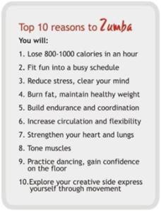 10 reasons to zumba